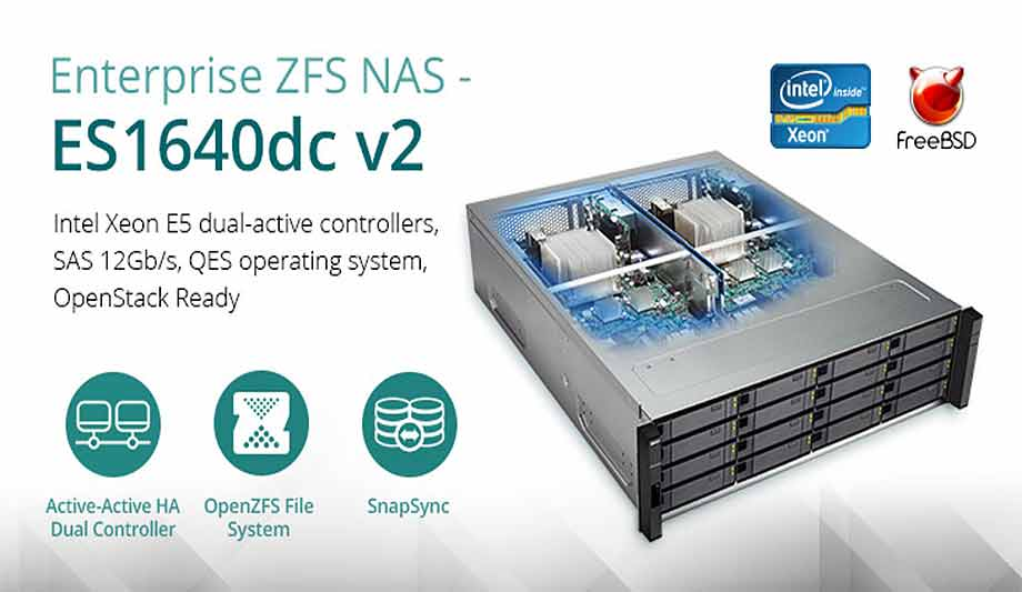 QNAP upgrades ZFS NAS ES1640dc v2 mission-critical tasks