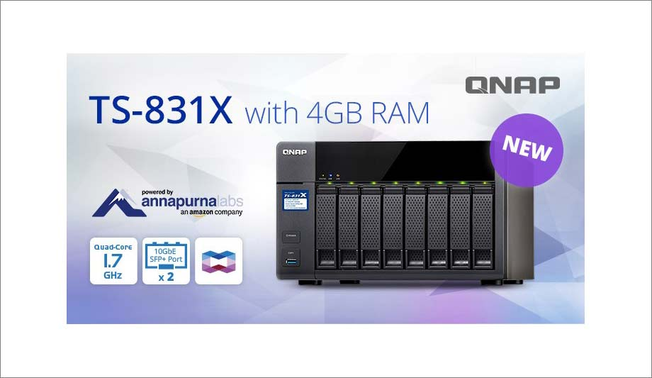 QNAP TS-831X cost-effective 8-bay business NAS | Security