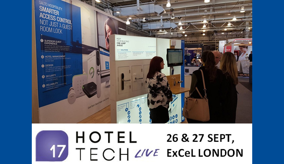 SALTO access control products at Hotel Tech Live 2017