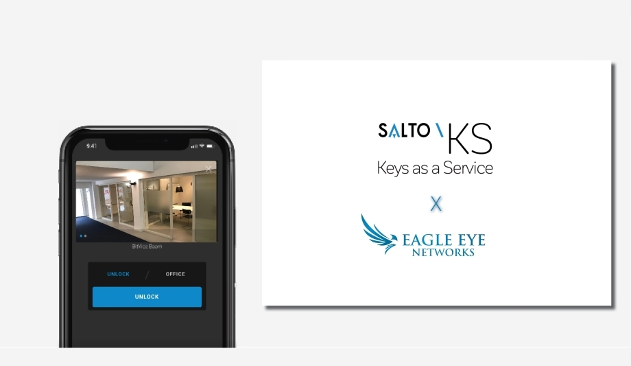 Eagle Eye Cloud VMS integrated via cloud within Salto KS