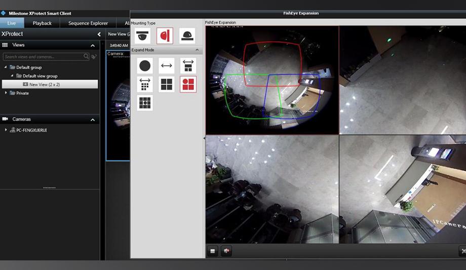 Hikvision fisheye cameras integrate Milestone XProtect ...