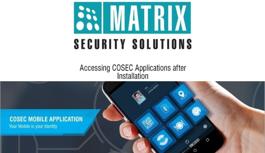 Matrix cosec apta launch app for access control management for Matrix mobili