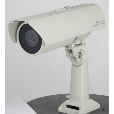 Rainbow CCTV's outdoor camera with waterproof housing and optional heater, sun shade and dual power