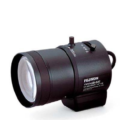 Fujinon YV10x5B-2 CCTV camera lens with manual iris
