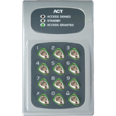 ACT ACT 10 Digital Keypad audio, video, keypad entry with backlit keypad