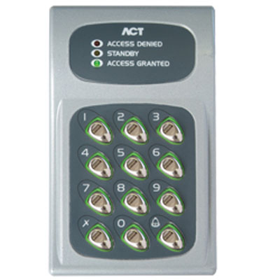 ACT 5 & ACT 10 digital keypads & ACT 5prox (with proximity) offer low-cost access control solutions for standalone doors / gates