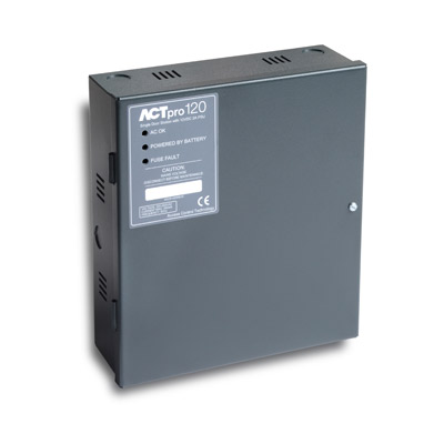 ACTpro 120 single door station with built-in PSU saves on installation time and space