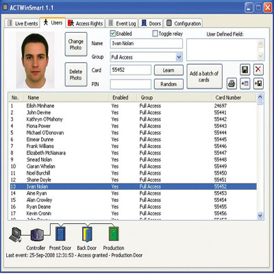 ACT ACTsmart2 Software Access control software