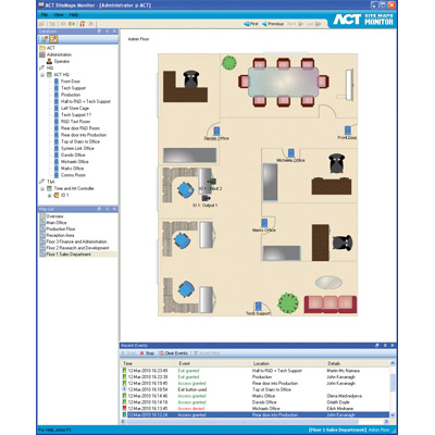 ACT launches Sitemaps in ACTWin 2.7, the latest version of the ACTpro access control software
