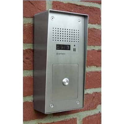 Aiphone GT-1A/S/SS surface mounting stainless steel audio door station