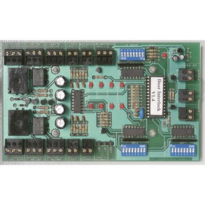 Alpro IEC-IB1PSU12V3AMP interlock control board mounted in metal