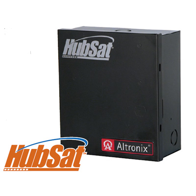 Altronix HubSat4D passive UTP transceiver hub with integral camera power