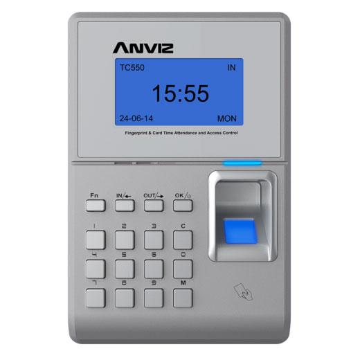 Anviz Global TC550 fingerprint & RFID time attendance and access control