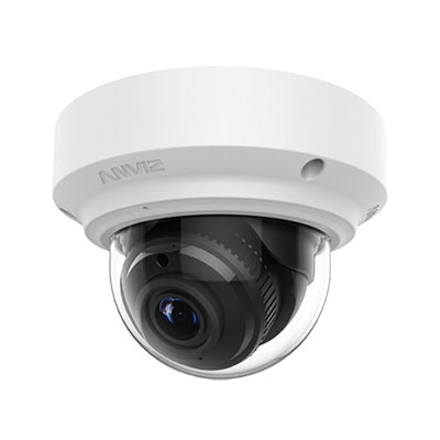 Anviz TopView vari-focal IR fixed dome cameras with x3 auto focus P-Iris lens and advanced P-Iris technology