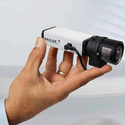 Basler BIP2-640c IP camera with anti-flicker and electronic PTZ