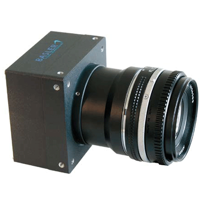 Basler L803k CCTV camera with LED indicatiors and test image generation capabilities