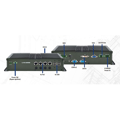 BCDVideo BCD-RGD-5000-B0 mobile NVR with 4 PoE ports