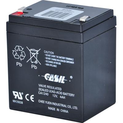 Altronix BT124 Rechargeable Battery, Sealed Lead Acid (SLA), 12VDC, 4AH