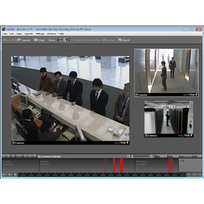 Canon RM-64 CCTV software with embedded video content analytics
