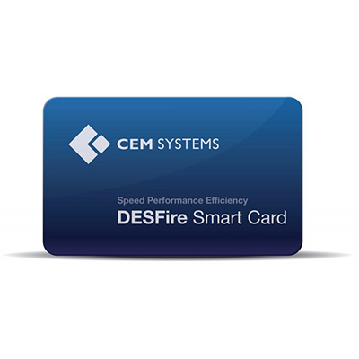 CEM DESFire pre-personalised contactless smart card