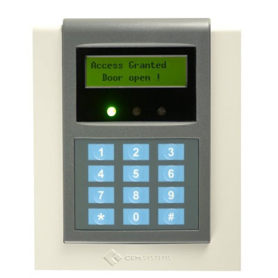 CEM RDR/612/107 exit card reader with PIN