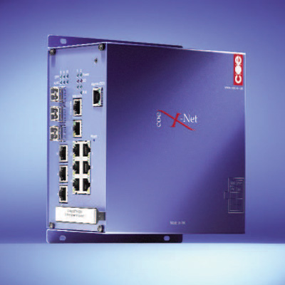 COE X-Net ETHSW managed industrial gigabit ethernet switch with SFP optic support