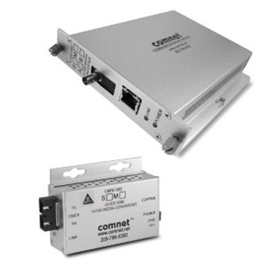 Comnet CNFE100(X)  -  10/100 Mbps Ethernet  Electrical to Optical media converter