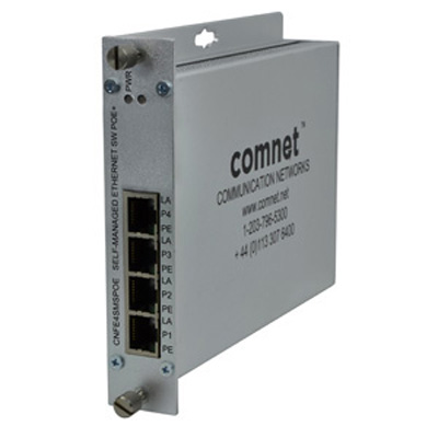 Comnet CNFE4+1SMS(M,S)2POE  10/100TX 4TX/1FX Ethernet Self-Managed Switch With Power Over Ethernet (PoE)