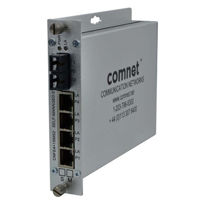 ComNet CNFE4+1SMSM2 10/100 4TX+1FX Ethernet Self-managed Switch