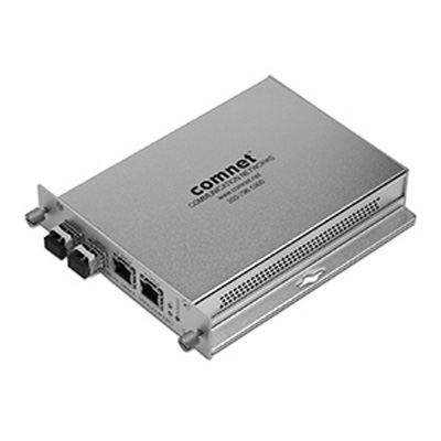 Comnet CNFE4US SERIES 10/100 Mbps Ethernet 4 Port Unmanaged Switch; 2 Channels: Electrical To 2 Channels
