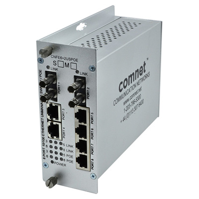 ComNet CNFE6+2USPOE-S Ethernet self-managed switch