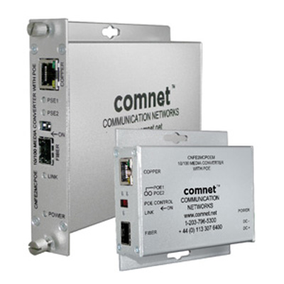 ComNet CNFEMCPOE ComFit 10/100 mbps ethernet media converter with PoE