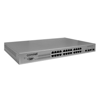 Comnet CNGE2FE24MSPOE Environmentally Hardened Managed Ethernet Switch With (24) 10/100TX