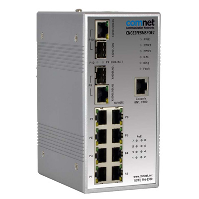 ComNet CNGE2FE8MSPOE2 Hardened Managed Ethernet Switch