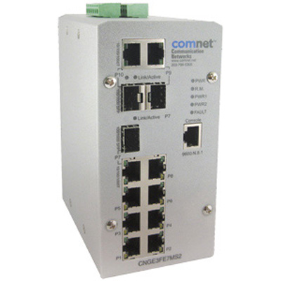 Comnet CNGE3FE7MS2 Environmentally Hardened Managed Ethernet Switch