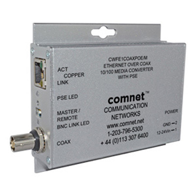 Comnet CWFE1COAXPOE/M 10/100 mbps ethernet-over-coax