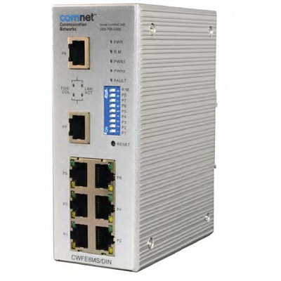 ComNet CWFE8MS/DIN Managed Ethernet  Switch