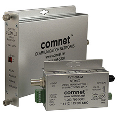 "Comnet FVT/FVR109A(M,S)1[M]  - 10-bit digitally encoded video with ""Up-the-Coax""* extended distance  or bi-directional data (RS232, RS422, RS485 2/4W)"