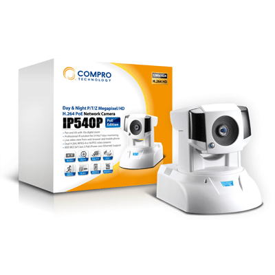Compro IP540P megapixel IP camera and 1/3 inch chip