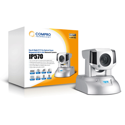 Compro IP570 megapixel IP camera with 1/4 inch chip