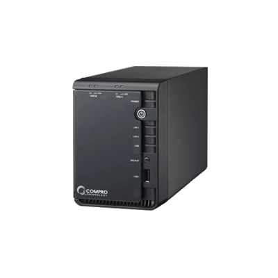 Compro RS-2212 12 channel network video recorder with dual SATA support