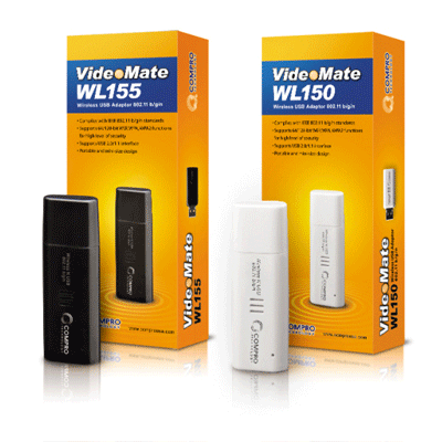 Compro WL150 / WL155 wireless USB adapter for IP cameras