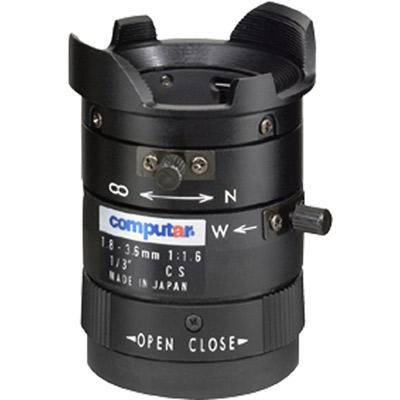 Computar T2Z1816CS 1/3'' varifocal CCTV camera lens with manual iris