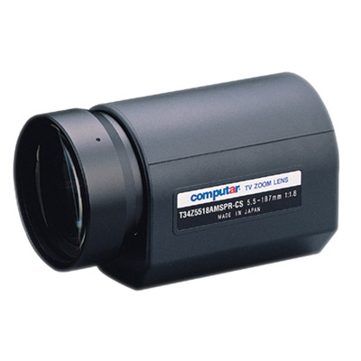 Computar T34Z5518AMSPR-CS 1/3'' CCTV camera lens with motorised zoom and auto iris