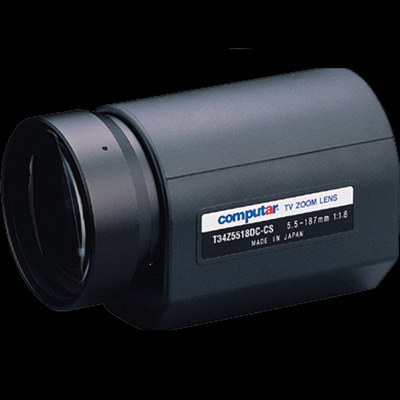 Computar T34Z5518PDC-CS CCTV camera lens with auto iris and direct drive