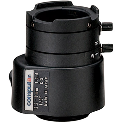 Computar TG2Z3514FCS 1/3'' CCTV cmaera lens with manual iris and direct drive