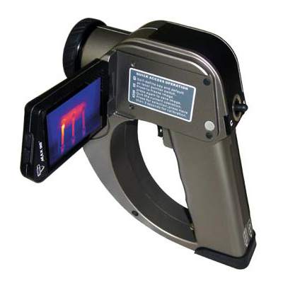 DALI TEi thermal imaging CCTV camera with LCD rotatable screen