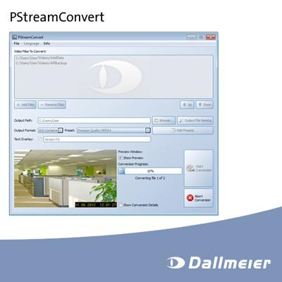 New application from Dallmeier: PStreamConvert