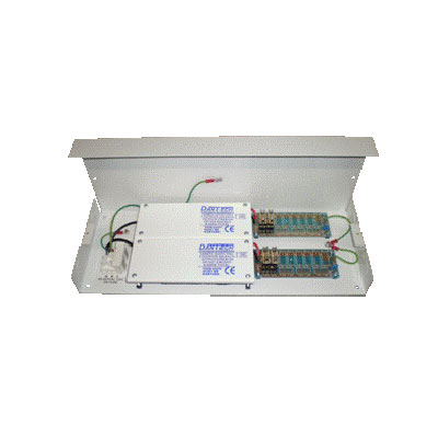 Dantech DA667/4 compact PSU supplying 12VDC with 4 x 2A fused outputs