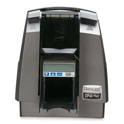 Datacard CP40 PLUS CARD PRINTER video printer with magnetic stripe encoding
